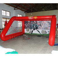 Hot sale red inflatable sports games soccer goal,PVC inflatable sport game