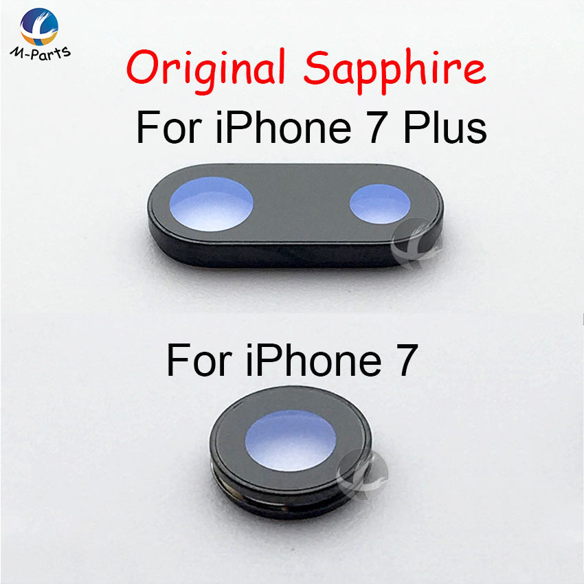 1pc 100% Original Sapphire For IPhone 6 6P 6S 6SP 7 7P 8 8P Plus Back Camera Cover Lens Crystal Protector Glass Lens + Frame
