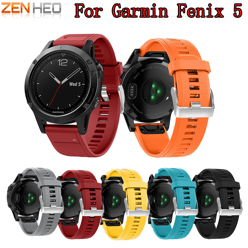 22mm Watchband Strap for Garmin Fenix 5 Smart Watch Quick Release Silicone Easy fit Wrist Band Strap For Garmin Forerunner 935 22mm watch band accessories stainless steel quick fit release watch bands straps for garmin forerunner 935 fenix 5