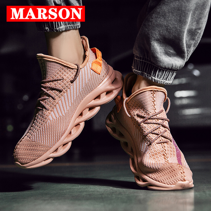 MARSON Men 39 s Casual Shoes Man Sneakers Sports Fashion Breathable Male Lace up Brand Sneaker Comfortable Running Outdoor Shoes in Men 39 s Casual Shoes from Shoes