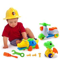 Красивая детская ручная сборка гайка инструмент Комбинация Съемная обучающая игрушка животное кукла разборка мальчик