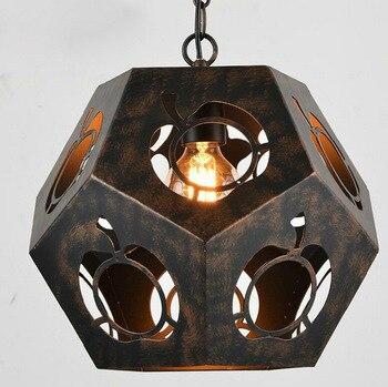 Чердак, ретро, железо со стразами подвеска в форме многогранника свет в стиле кантри Кафе Ресторан Бар висящий канделяр E27