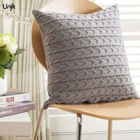 Urijk 1PC Knitted Thread Soft Pillows Cover European Decorations For Home Bedroom Sofa Chair Cushions Covers