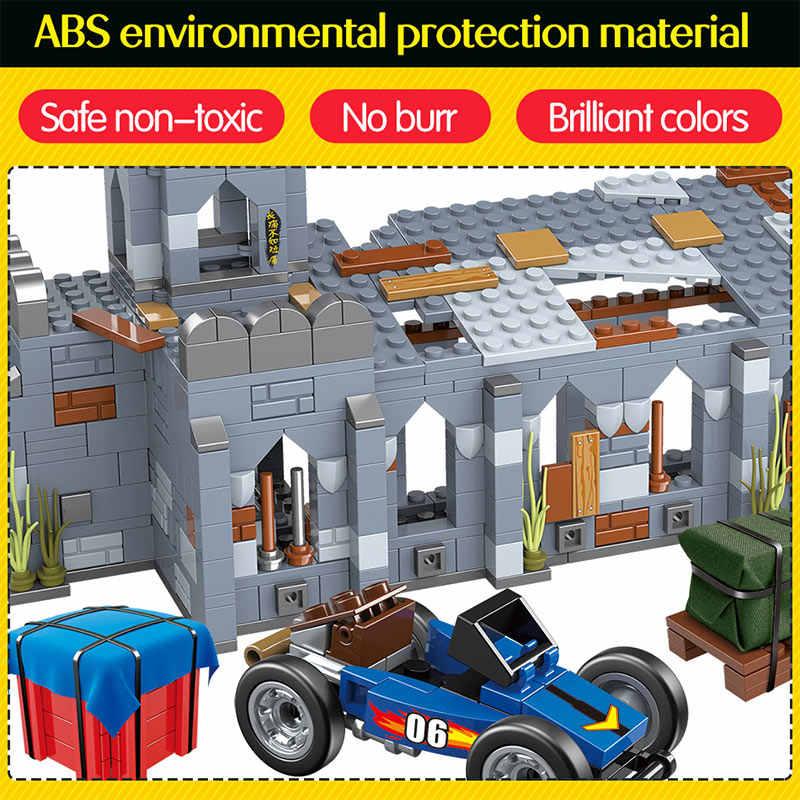 916 шт Часовня бои Battlegrounds блоки legoingly армейская городская полиция оружие PUBG строительные кубики, детские игрушки для мальчиков