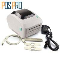 Wysokiej Jakości 4 cal Termiczna Drukarka Etykiet Kodów Kreskowych ITPP064 Darmowa Kodów Kreskowych Oprogramowanie USB Port Compatiable ESC/POS ZPL Poleceń
