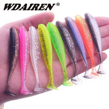 10 Pcs/lot Wobbler leurre de pêche 75mm 2.2g facile Shiner Jig Swimbait artificiel Double couleur Silicone appât souple carpe basse leurres(China)