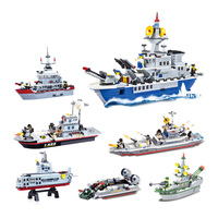 Sea Battleship Plastic Model Diy Spell Insert Toys Children Education Gift Toy Ship Model Kit