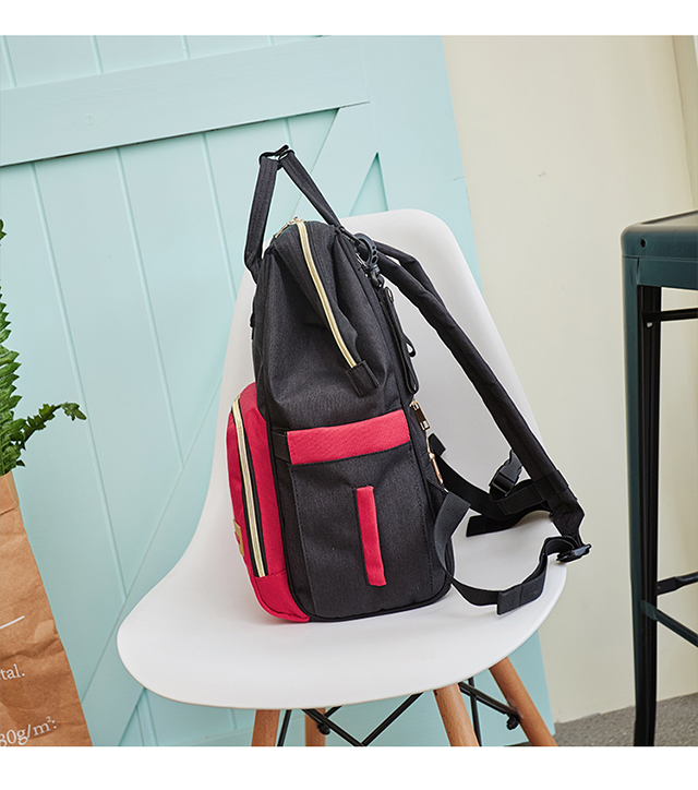 HTB16r TXR1D3KVjSZFyq6zuFpXaP Disney Minnie Mickey Classic Red Diaper Bags 2PCS/SET Mummy Maternity Backpack Nappy Bag Large Capacity Baby Bag Travel 3D Doll