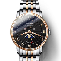 Switzerland Luxury Brand Men's Watch LOBINNI Watch Men Sapphire Waterproof Moon Phase reloj hombre Japan Miyota Movement L3603M8