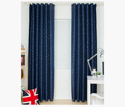 Granatowa niebieska gwiazda zasłony dla dzieci sypialnia pokój dziecięcy zasłony zaciemniające pokój z pięknymi nadrukami zasłony dla chłopców zasłony okienne CT1010