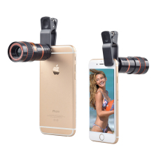 APEXEL 8X Telephoto Telescope Clip 180Degrees Fisheye Wide Angle Macro Photo Zoom Lens Kit 4in1 For iPhone xiaomi Android Phones