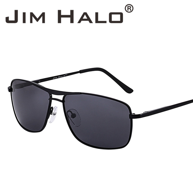 47a8eaf6d51 Jim Halo Retro Lightweight Spring Hinge Polarized Aviation Sunglasses Men  UV400 Lens Sun Glasses Driving Fishing Outdoor Eyewear