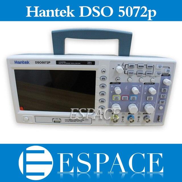 Hantek osciloscopio de almacenamiento Digital DSO5072P, 70MHz, 2 canales, 1GSa/s d, longitud 24K, USB