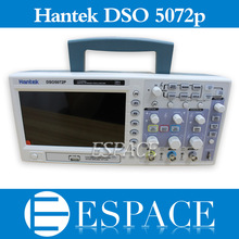 Osciloscópio de armazenamento digital de hantek dso5072p 70 mhz 2 canais 1gsa/s d comprimento 24 k usb