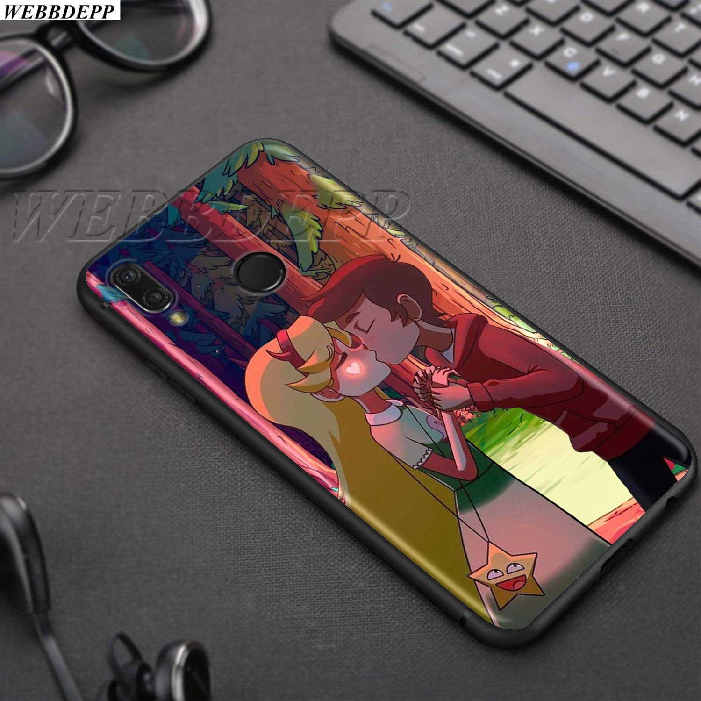 WEBBEDEPP スター vs 邪悪な TPU ソフトケース Huawei 社の名誉ノヴァ表示 20 9X P20 Y9 5i 1080p スマート Z 首相プラス Lite プロ 2019