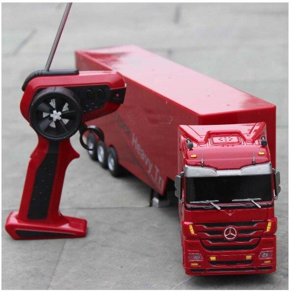 Camion télécommandé Enfants voiture-jouet électrique Grand Rc Conteneur Camion Remorque Enfants RC modèle de camion voiture en jouet Avec télécommande