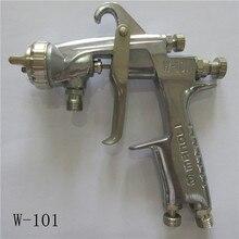 Бесплатная доставка, маноли ручной пистолет-распылитель W-101, тяжести всасывания давления Тип подачи, W101 покрасочный пистолет, хорошее распыление, HVLP пистолет