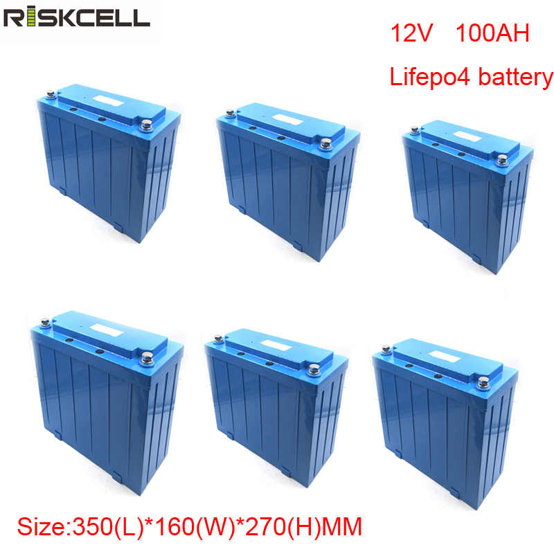 6pcs/lot No taxes Lithium ion Battery 12V 100Ah LiFePO4 Battery for Electric Forklift, Car, Bus, Truck and Vehicles аккумулятор для фонарика gaotan12v lithium ion battery 12v100ah 12v 100ah