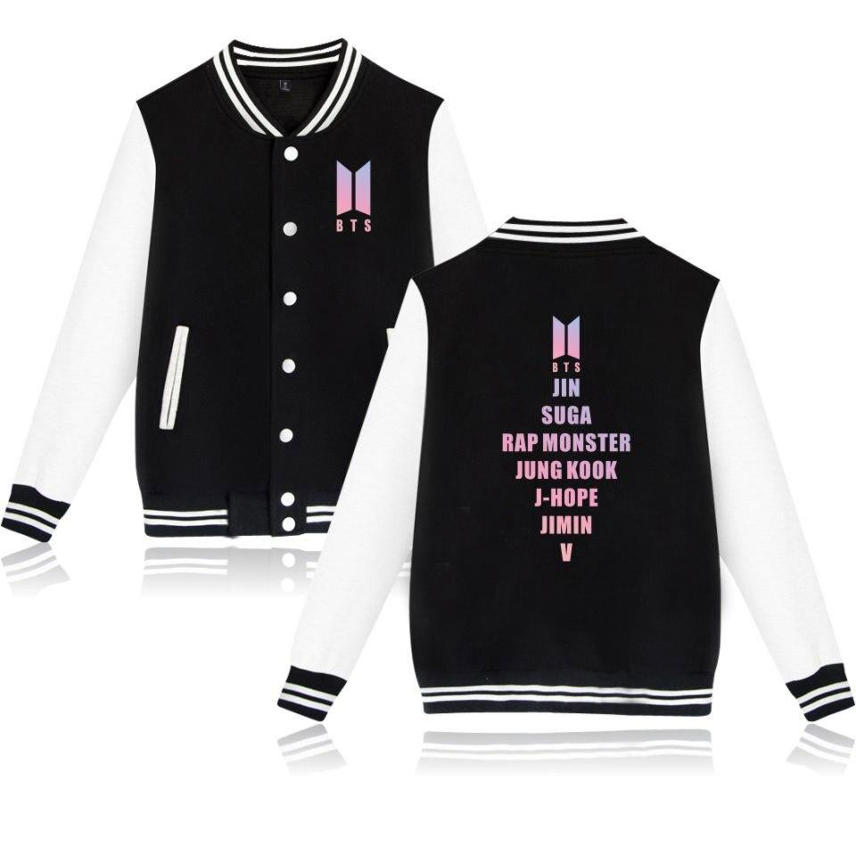 BTS LOVE YOURSELF Tear   Jackets   Print Collage Style Baseball   Jackets   Men/Women Casual   Basic     Jacket   BTS LOVE YOURSELF Tear