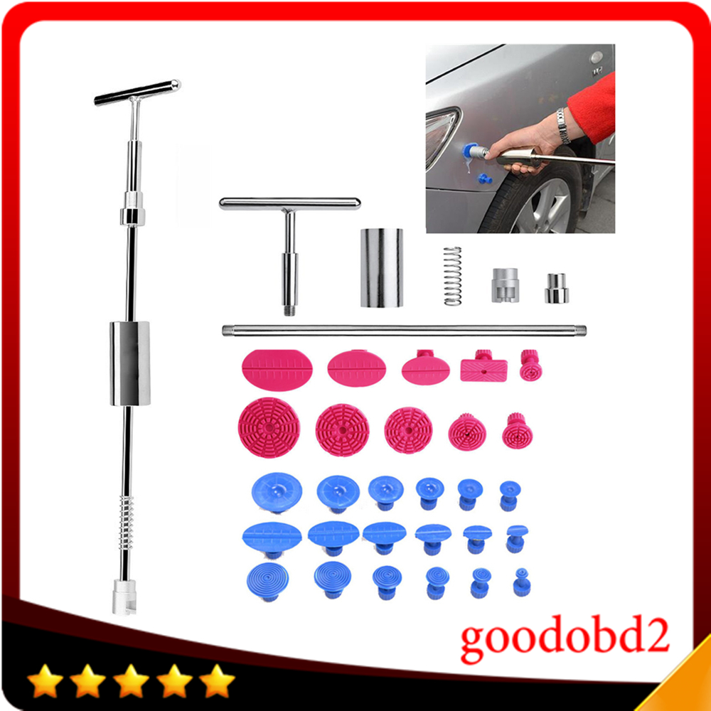 PDR Tools Kit Ferramentas Dent Removal Paintless Dent Repair Tool 2 in 1 Dent Puller Slide Hammer Glue Tabs Suction Cup