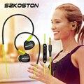 Stereo Esportes Fone de Ouvido com gancho de arame Memória Sweatproof Waterproof-Cancelamento de Ruído fones de ouvido com Microfone para a Execução de GymExercise