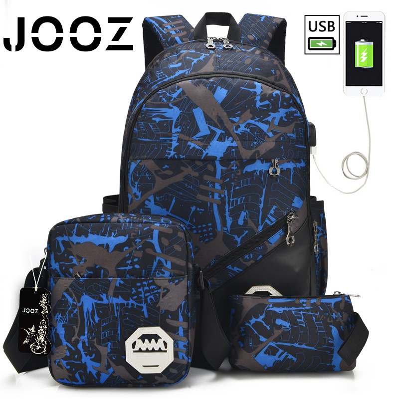 Jooz Brand 15 Laptop Hanbdbag External USB Charge Computer Hanbdbags Anti-theft Waterproof Bags for Men Women Shoulder Bags