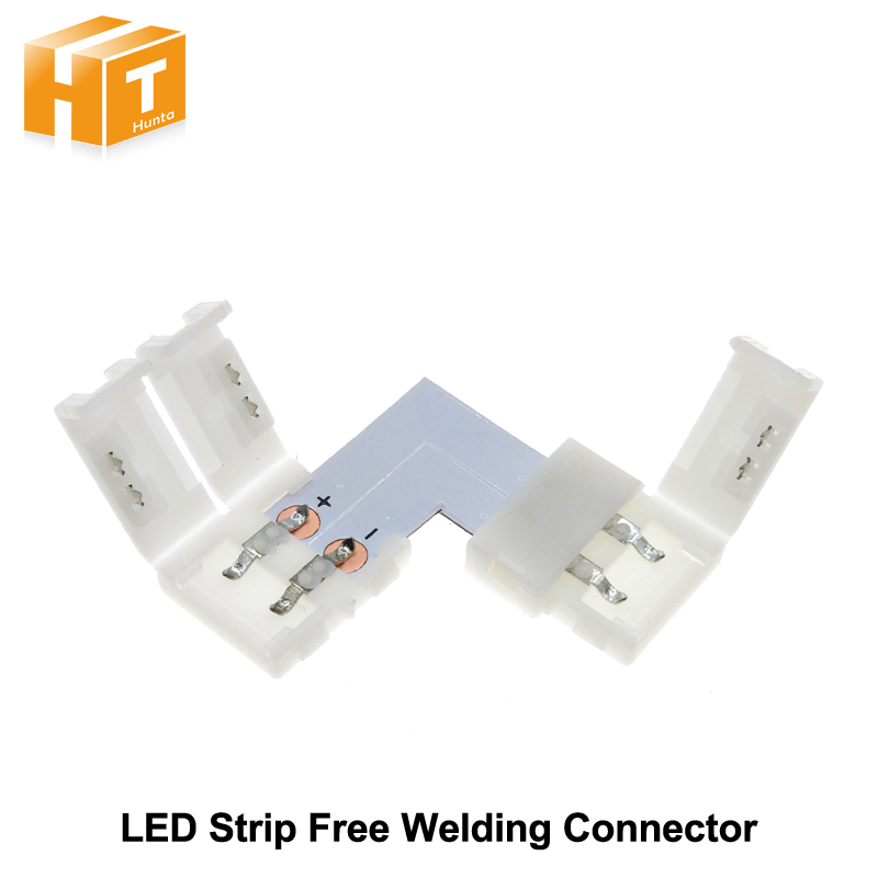 led strip connector 2pin 10mm l shape t shape x shape free welding connector 5pcs lot in. Black Bedroom Furniture Sets. Home Design Ideas