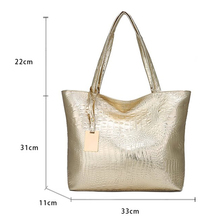 Retro Embossing Leather Ladies Shoulder Bag Large.