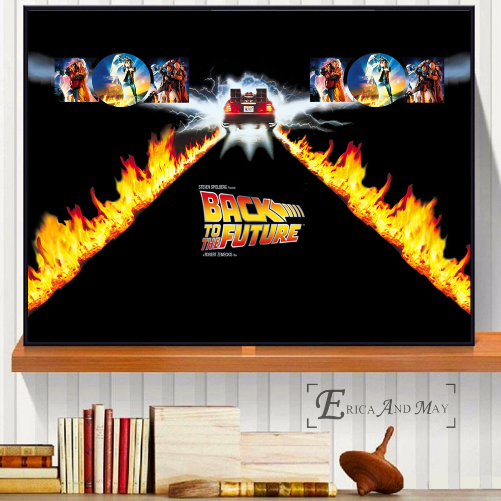 Back To The Future Movie Black Posters and Prints Wall art Decorative Picture Canvas Painting For Living Room Home Decor Unframe in Painting Calligraphy from Home Garden