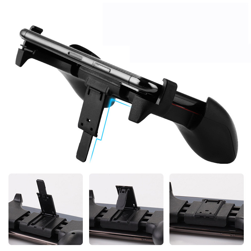 Image 5 - 2 in 1 Mobile Phone Game Controller For PUBG Mobile Trigger Gamepad Gaming  Fire /Aim Key Button L1R1 Shooter Joystick-in Gamepads from Consumer Electronics