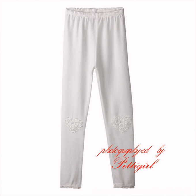 White Childrens Leggings