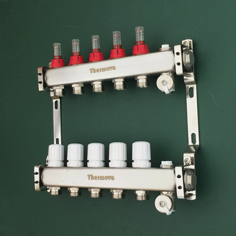 Extrem 5 niederlassung edelstahl wasserverteiler mit durchflussmesser AC21