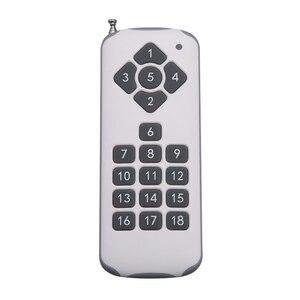 Image 3 - Dc 12 v 18ch relé interruptor remoto 18 receptor de relé 18 botão transmissor remoto contato rx tx pedir luz lâmpada casa inteligente sem fio
