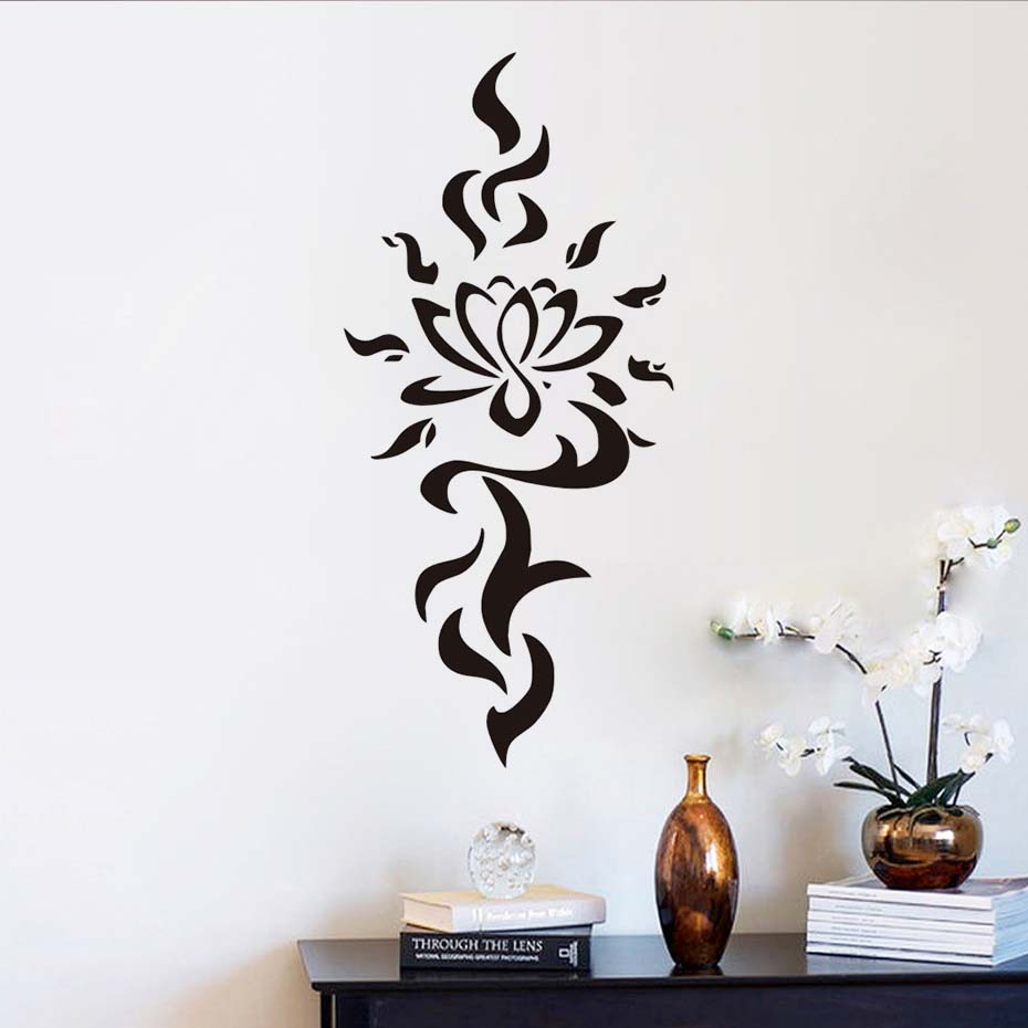 online buy wholesale interior design bedroom from china interior dctop wall decals yoga flower lotus namaste decal vinyl sticker oum om sign home decor interior