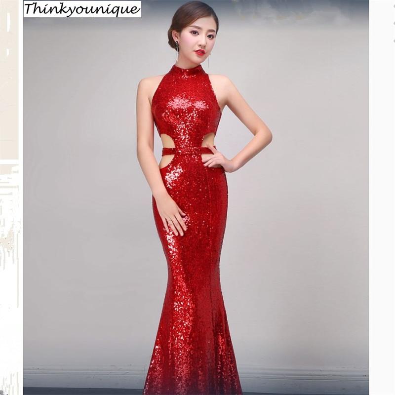 Col montant robes de festa sirène longues robes de soirée Abendkleider robe de soirée robe de mariage vestidos de noche TK800