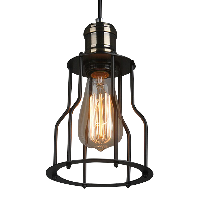60W American Country Retro Loft Style Vintage Lamp Industrial Pendant Lights Metal Frame Edison Bulb,Lamparas60W American Country Retro Loft Style Vintage Lamp Industrial Pendant Lights Metal Frame Edison Bulb,Lamparas
