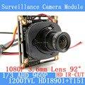 1.3MP 1280*960 1200TVL AHD 960P mini night vision 1/3 HDI8901+T151 Camera Module 2MP 3.6mm Surveillance Camera ODS / BNC cable