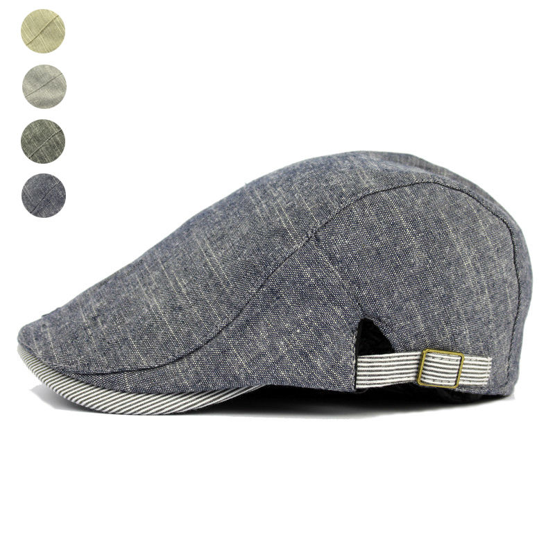Adjustable Beret Caps Spring Summer Outdoor Sun Breathable Bone Brim Hats Womens Mens Herringbone Solid Flat Berets Cap Hat