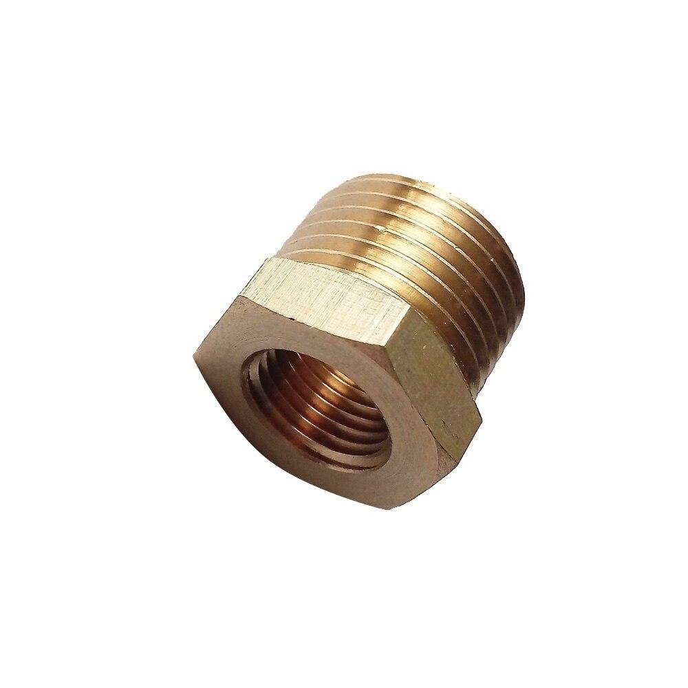 Brass Reducing Hex Nipple 3//8 Inch x 1//4 Inch BSPThreaded Plumbing Fitting