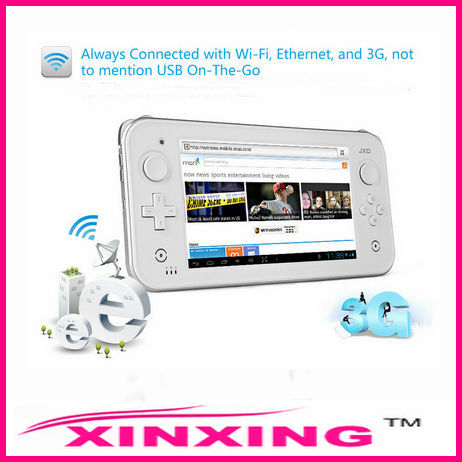 Brand JXD S7300 7inch Android4.1 OTG HDMI Capacity Touch Screen Game Console Dual core1.5GHZ 1GB RAM 8GB ROM