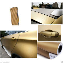 30cmx127cm 3D Carbon Fiber Vinyl Car Wrap Roll