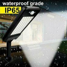 60LED 1000LM Güneş Kısılabilir Duvar Lambası PIR Hareket Sensörü Bahçe açık hava aydınlatması