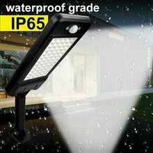 60LED 1000LM ソーラー調光可能な壁ライト Pir モーションセンサーガーデン屋外ランプ