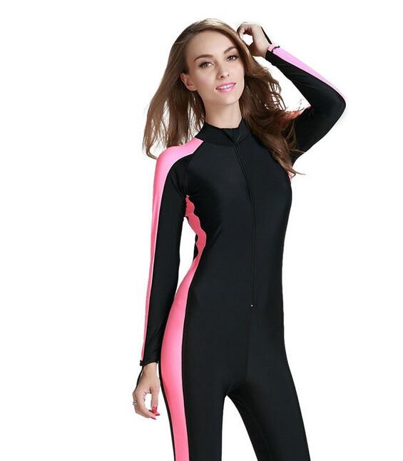 Sbart Women Diving Wetsuit One Pieces Wetsuit Swimwear Waterproof
