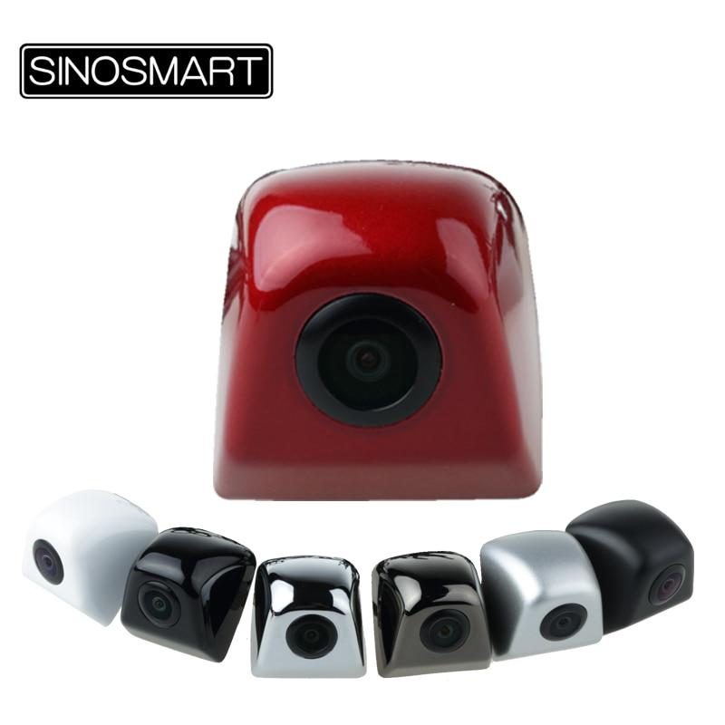 imágenes para Sinosmart venta caliente universal hd aparcamiento cámara del revés de reserva para el coche/suv etc inoxidable metal 7 colores 6 v 12 v 24 v