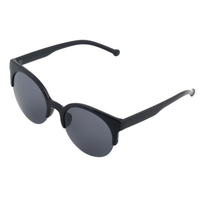 6ca5228f56 Unisex Retro Round Circle Frame Semi Rimless bike Sunglasses New-in ...