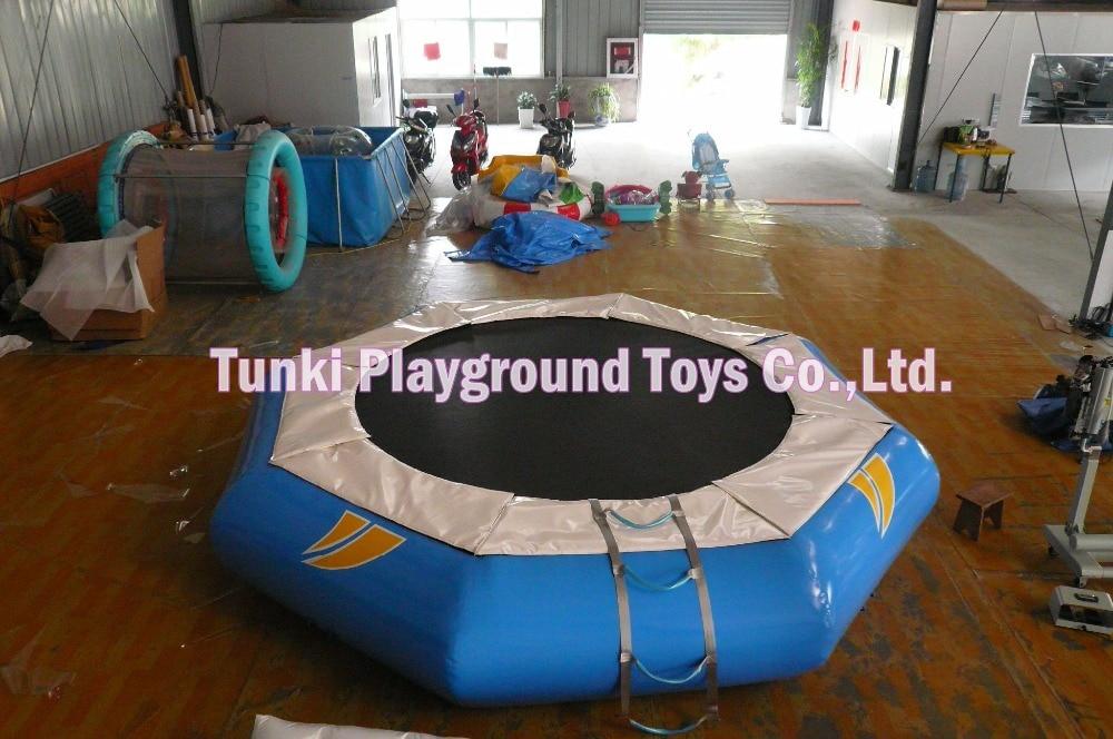 5 เมตรเส้นผ่าศูนย์กลางเกมกีฬาทางน้ำทำให้พอง / สวนน้ำทำให้พอง / Trampoline น้ำทำให้พอง