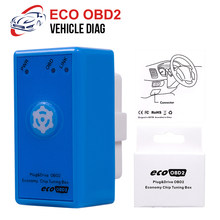 ECO Fuel OBD2 Power Prog With Reset Button Benzine Car Chip Tuning Box Plug And Drive ECO OBD2 Save Fuel For Petrol Cars(China)