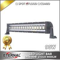Frete grátis 4 pcs 90 W led light bar car automotive driving farol offroad 4x4 ATV UTV motocicleta neve móvel conduziu a lâmpada