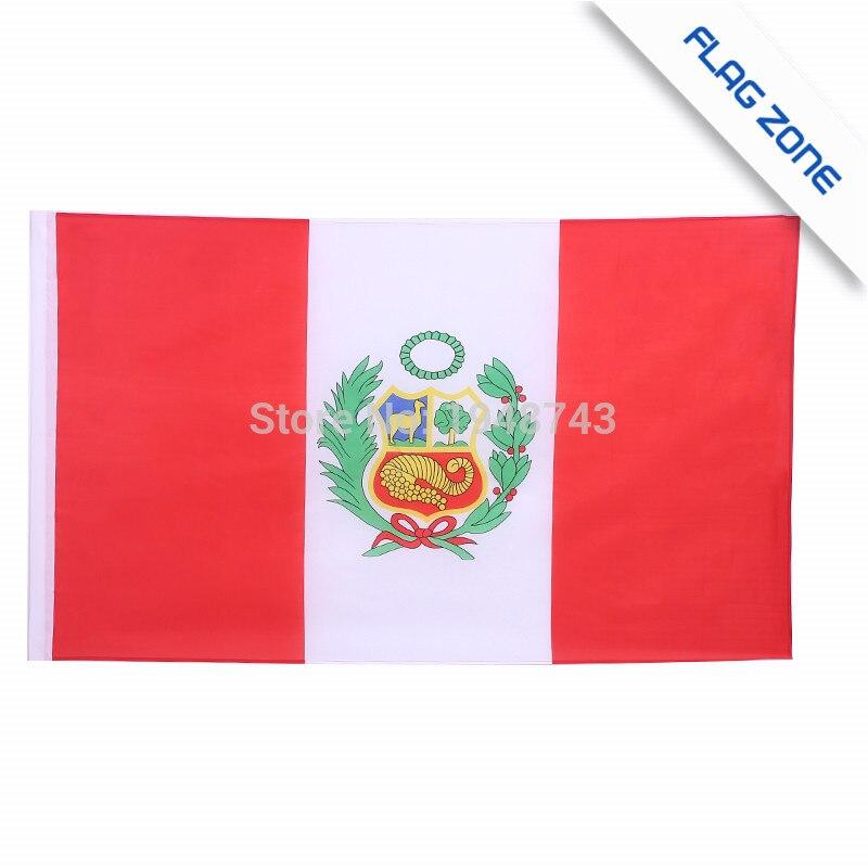 Abile 2017 Il Perù Bandiera Bandiera Di Poliestere 5*3 Ft 150*90 Cm Di Alta Qualità è Possibile Aggiungere In Ottone Fibbia (lasci Il Massaggio) Ad Ogni Costo